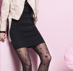 Rajstopy w kropki, rajstopy w grochy – super modny trend powraca